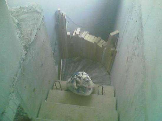 escalier balancé raccord